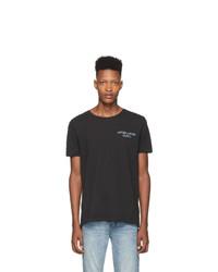 Camiseta con cuello circular estampada negra de Ksubi