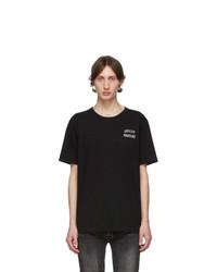 Camiseta con cuello circular estampada negra de Wacko Maria