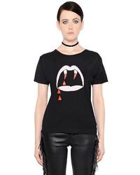 Camiseta con cuello circular estampada original 4110611