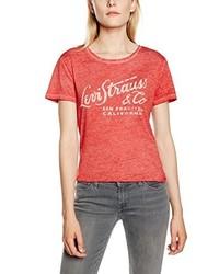 Camiseta con Cuello Circular Estampada Roja de Levi's