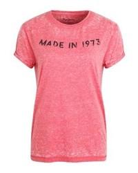Camiseta con cuello circular estampada roja de Pepe Jeans