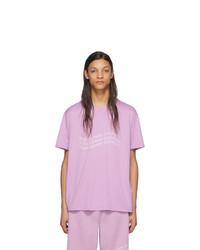Camiseta con cuello circular estampada violeta claro de Givenchy