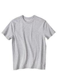 Camiseta con cuello circular gris