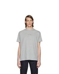 Camiseta con cuello circular gris de 1017 Alyx 9Sm