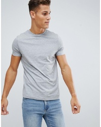 Camiseta con cuello circular gris de ASOS DESIGN