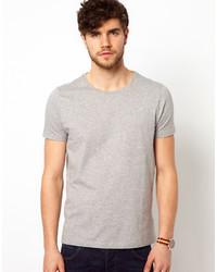 Camiseta con cuello circular gris de Asos