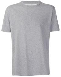 Camiseta con cuello circular gris de Brunello Cucinelli