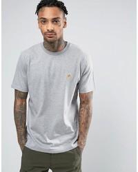 Camiseta con cuello circular gris de Carhartt WIP