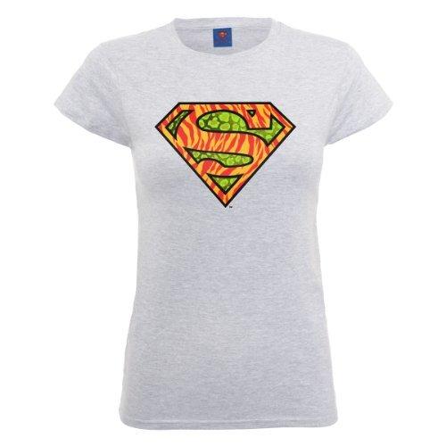 Camiseta con cuello circular gris de DC Comics