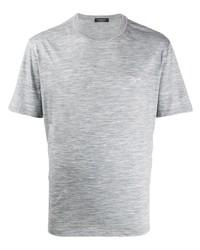 Camiseta con cuello circular gris de Ermenegildo Zegna