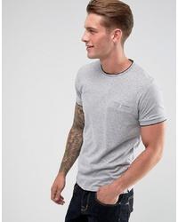 Camiseta con cuello circular gris de French Connection
