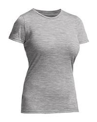 Camiseta con cuello circular gris de Ice Breaker