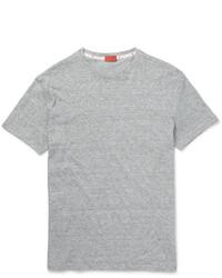 Camiseta con cuello circular gris de Isaia
