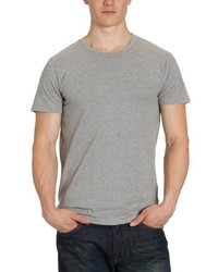 Camiseta con Cuello Circular Gris de Jack & Jones