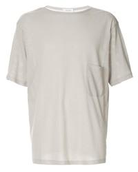 Camiseta con cuello circular gris de Lemaire