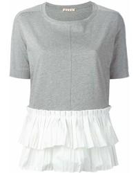 Camiseta con cuello circular gris de Marni