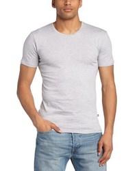 Camiseta con cuello circular gris de Minimum