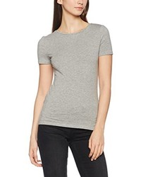 Camiseta con cuello circular gris de New Look