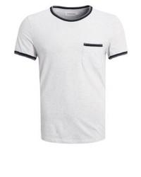 Camiseta con Cuello Circular Gris de Pier One