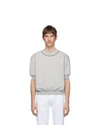Camiseta con cuello circular gris de Random Identities