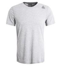 Camiseta con cuello circular gris de Reebok