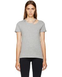 Camiseta con cuello circular gris de Stella McCartney