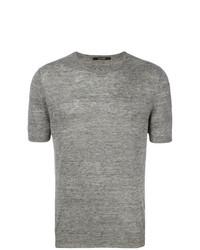 Camiseta con cuello circular gris de Tagliatore