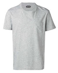 Camiseta con cuello circular gris de Tom Ford
