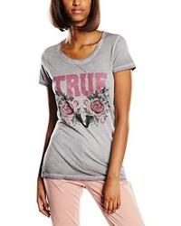 Camiseta con cuello circular gris de True Religion