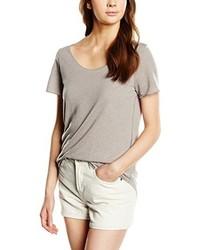 Camiseta con cuello circular gris de Vero Moda