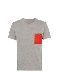 Camiseta con cuello circular gris de VISVIM