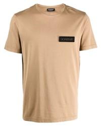 Camiseta con cuello circular marrón claro de Dondup