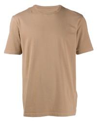Camiseta con cuello circular marrón claro de Maison Margiela