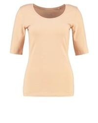 Camiseta con cuello circular marrón claro de Opus