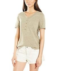 Camiseta con cuello circular marrón claro de Quick Services
