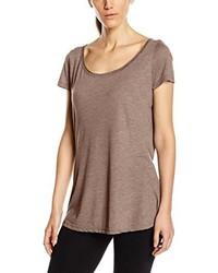 Camiseta con cuello circular marrón claro de Stedman Apparel