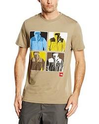 Camiseta con cuello circular marrón claro de The North Face