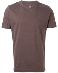 Camiseta con cuello circular marron original 387090