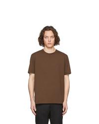 Camiseta con cuello circular marrón de Maison Margiela