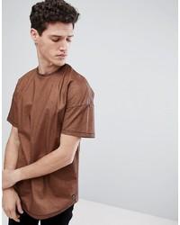 Camiseta con cuello circular marrón de Tom Tailor