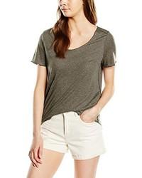 Camiseta con cuello circular marrón de Vero Moda