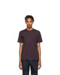 Camiseta con cuello circular morado oscuro de Ermenegildo Zegna