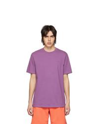 Camiseta con cuello circular morado de Aimé Leon Dore