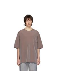 Camiseta con cuello circular morado de Lemaire
