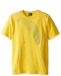 Camiseta con cuello circular mostaza