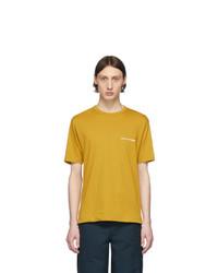 Camiseta con cuello circular mostaza de Comme Des Garcons SHIRT