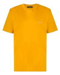 Camiseta con cuello circular mostaza de Ermenegildo Zegna