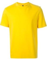 Camiseta con cuello circular mostaza de Neil Barrett