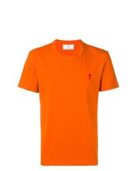 Camiseta con cuello circular naranja de AMI Alexandre Mattiussi