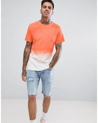 Camiseta con cuello circular naranja de Another Influence